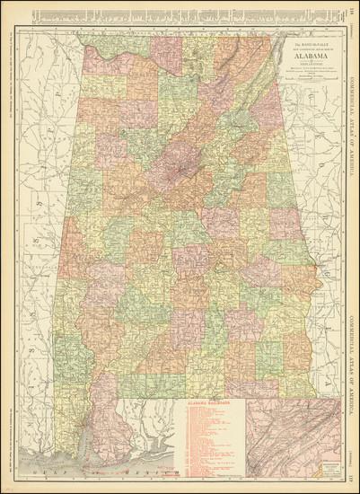 4-Alabama Map By Rand McNally & Company