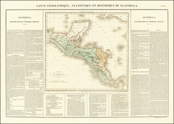 13-Central America Map By Jean Alexandre Buchon