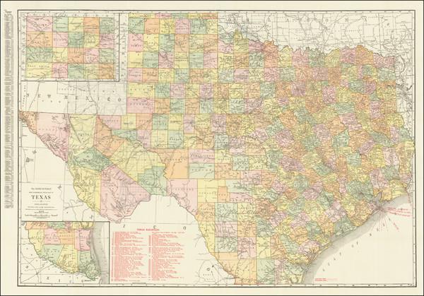 72-Texas Map By Rand McNally & Company