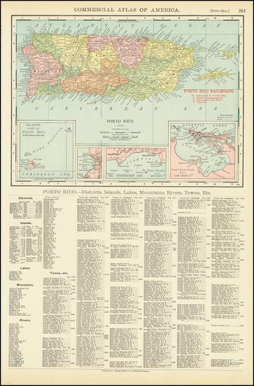 6-Puerto Rico Map By Rand McNally & Company