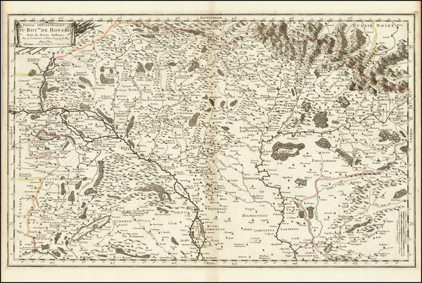 61-Hungary and Czech Republic & Slovakia Map By Nicolas Sanson