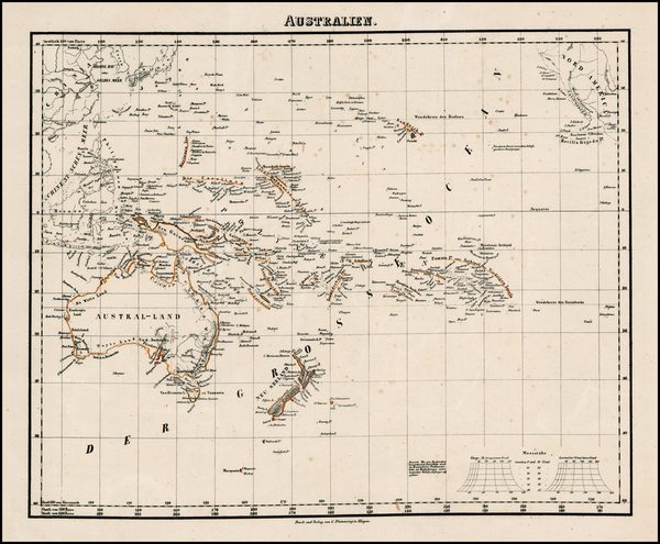 14-Australia & Oceania, Oceania, Hawaii and Other Pacific Islands Map By Carl Flemming