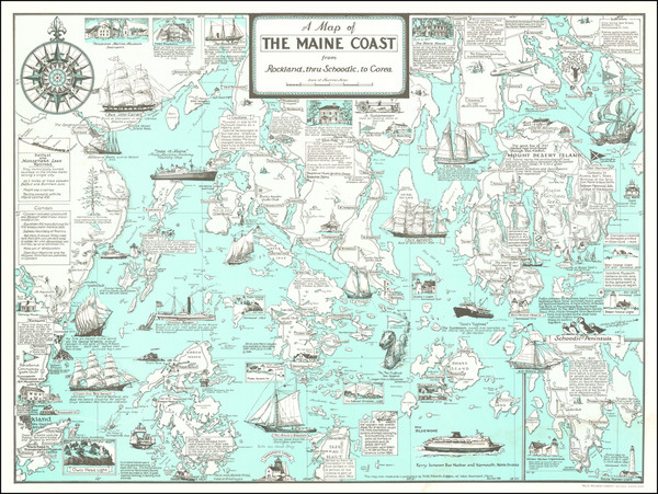2-Maine and Pictorial Maps Map By Ruth Rhoads Lepper