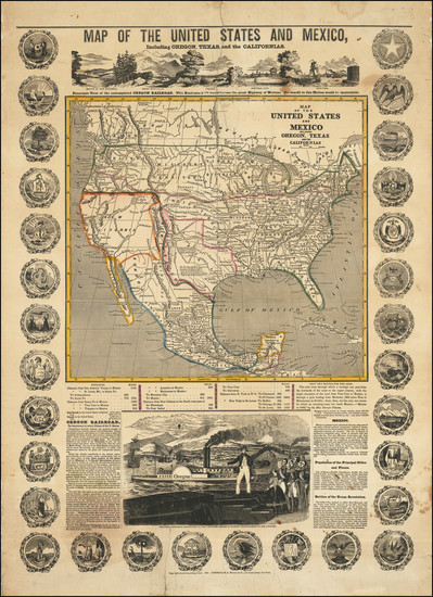95-United States, Texas, Oregon and California Map By H. A. Munson & Co.