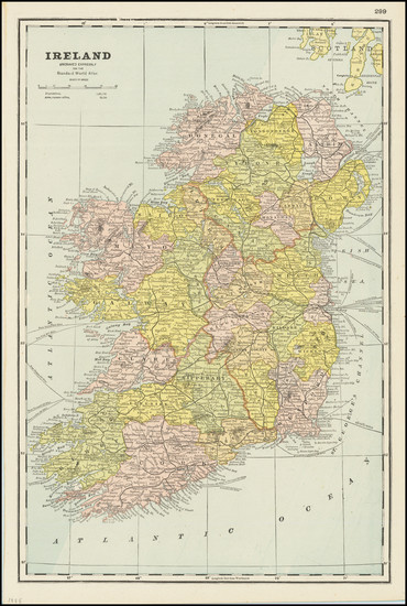 50-Ireland Map By Standard Atlas of the World