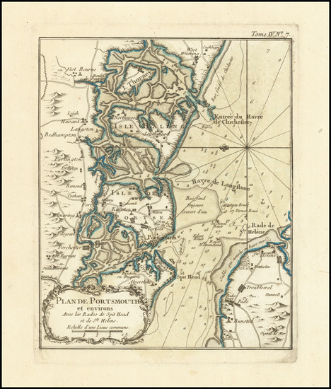 30-England Map By Jacques Nicolas Bellin