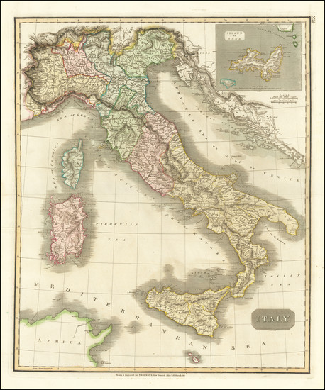 30-Italy Map By John Thomson