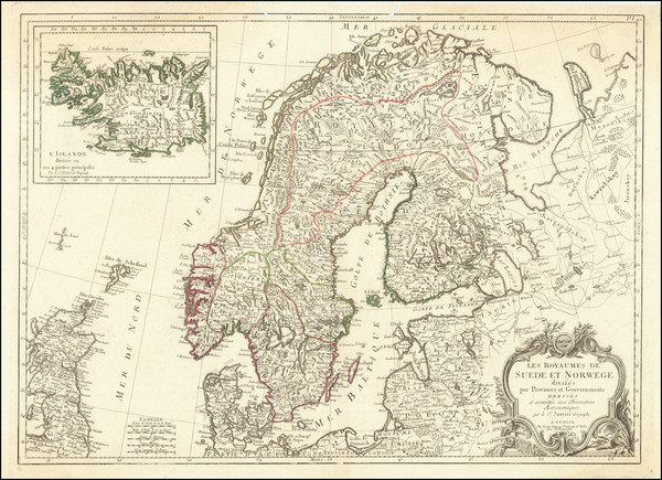 77-Scandinavia and Iceland Map By Francois Santini