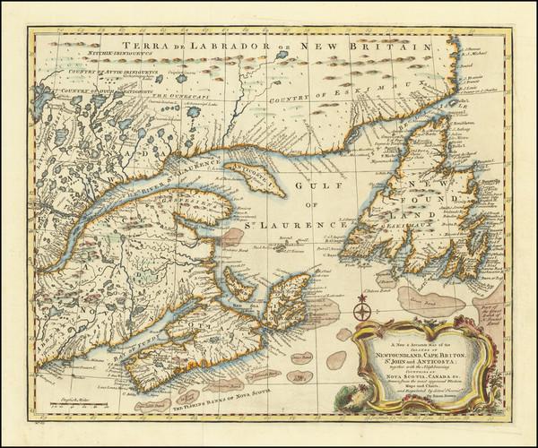 0-Eastern Canada Map By Emanuel Bowen