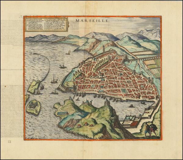 62-Sud et Alpes Française Map By Georg Braun  &  Frans Hogenberg
