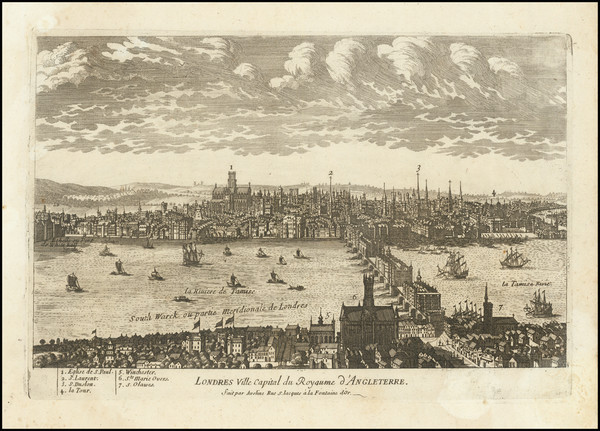 30-London Map By Pierre Alexander Aveline