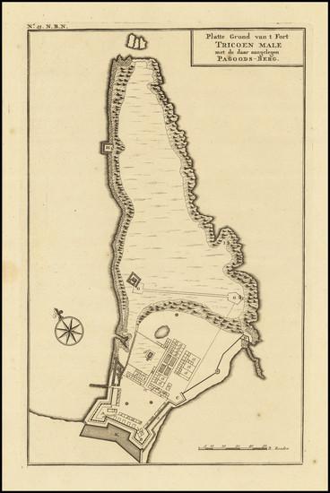 94-Sri Lanka Map By Francois Valentijn