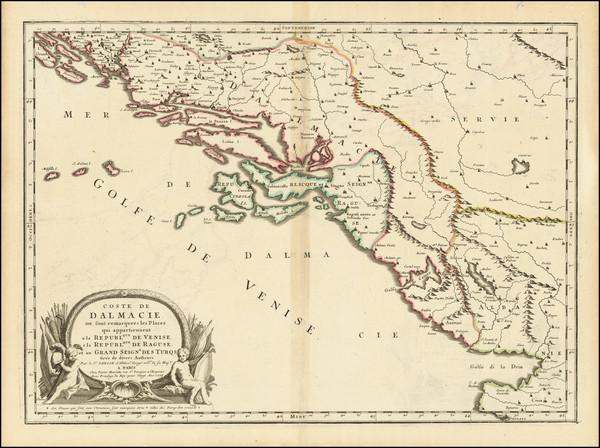 73-Croatia & Slovenia and Bosnia & Herzegovina Map By Nicolas Sanson / Pierre Mariette