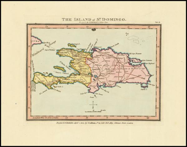 73-Hispaniola Map By John Luffman