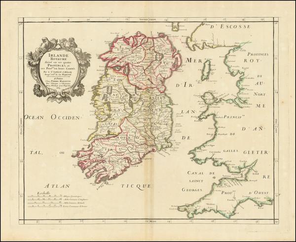 61-Ireland Map By Pierre Mariette