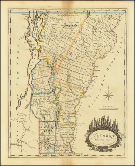 83-Vermont Map By