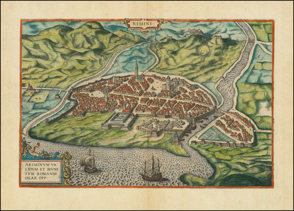 20-Other Italian Cities Map By Georg Braun  &  Frans Hogenberg