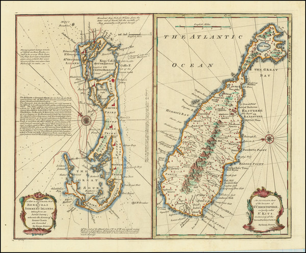 21-Bermuda and Other Islands Map By Emanuel Bowen