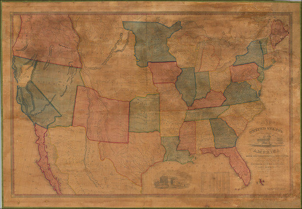 72-United States, Texas, Plains, Southwest and Rocky Mountains Map By John Reed  &  John Warne