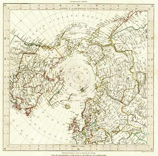 12-World, Northern Hemisphere, Polar Maps and Alaska Map By SDUK