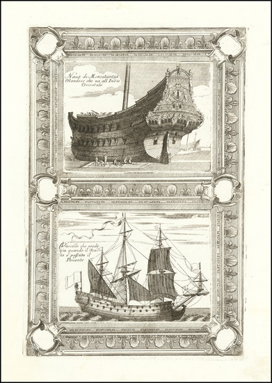 64-Netherlands and Curiosities Map By Vincenzo Maria Coronelli