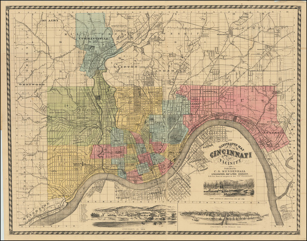 40-Ohio Map By C.S. Mendenhall