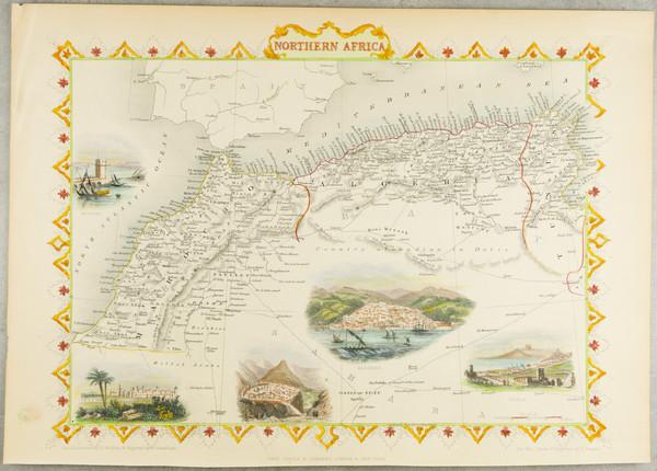 12-North Africa Map By John Tallis