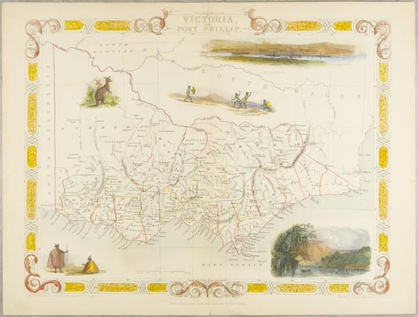 44-Australia Map By John Tallis