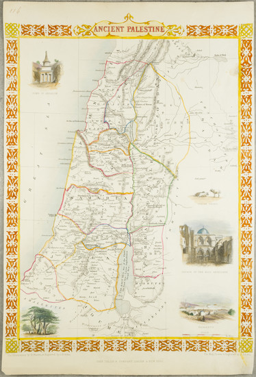 91-Holy Land Map By John Tallis