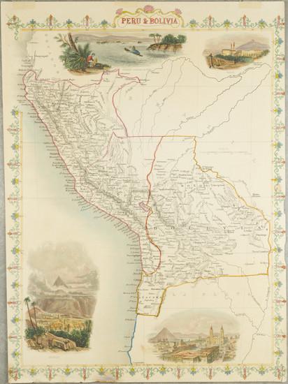 1-Paraguay & Bolivia and Peru & Ecuador Map By John Tallis