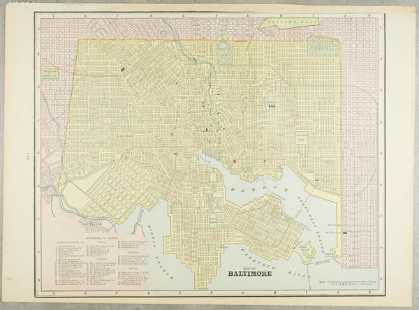 90-Maryland Map By George F. Cram