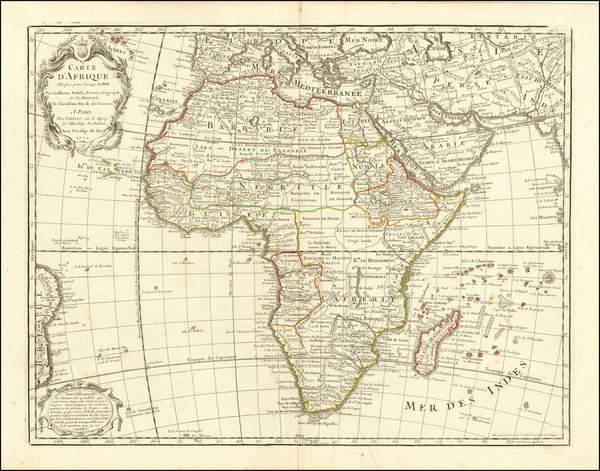 86-Africa Map By Philippe Buache