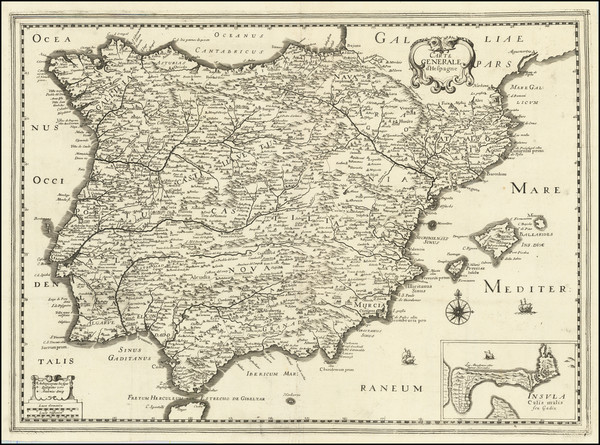 92-Spain and Portugal Map By Christopher Tassin / Pierre Mariette