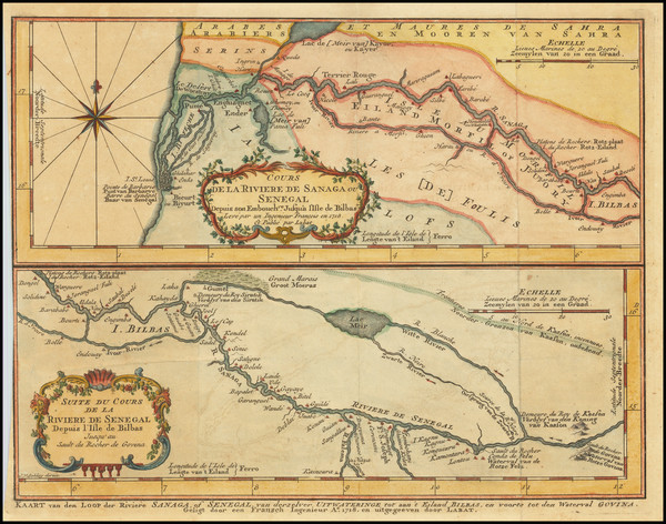 5-West Africa Map By J.V. Schley / Jacques Nicolas Bellin