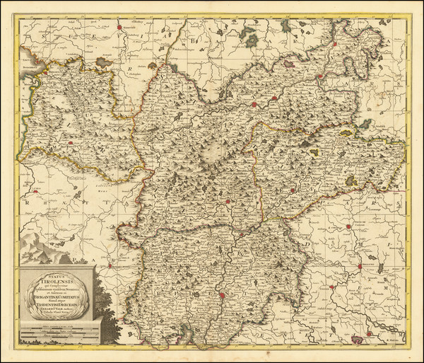 46-Austria and Northern Italy Map By Gerard Valk