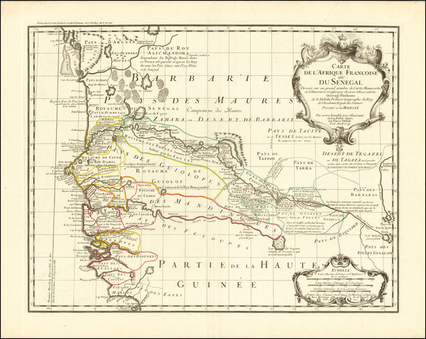 5-West Africa Map By Guillaume De L'Isle / Philippe Buache