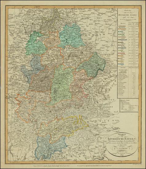 21-Austria, Northern Italy and Süddeutschland Map By Weimar Geographische Institut