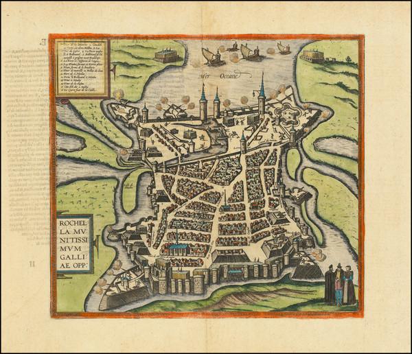 11-France Map By Georg Braun  &  Frans Hogenberg
