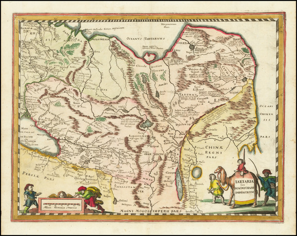 0-China, Central Asia & Caucasus and Russia in Asia Map By Matthaus Merian