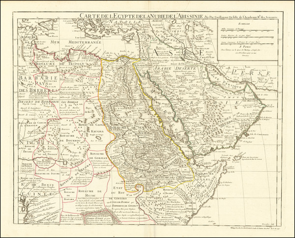 47-Middle East, Turkey & Asia Minor, North Africa and East Africa Map By Philippe Buache