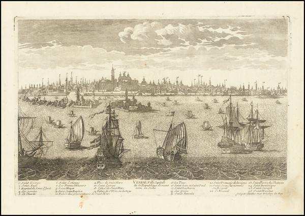 92-Venice Map By Pierre Alexander Aveline