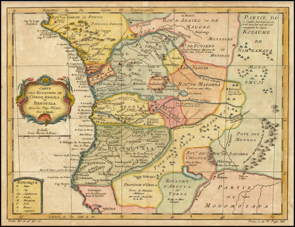 67-West Africa Map By Jacques Nicolas Bellin