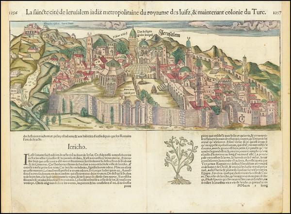 75-Jerusalem Map By Sebastian Munster