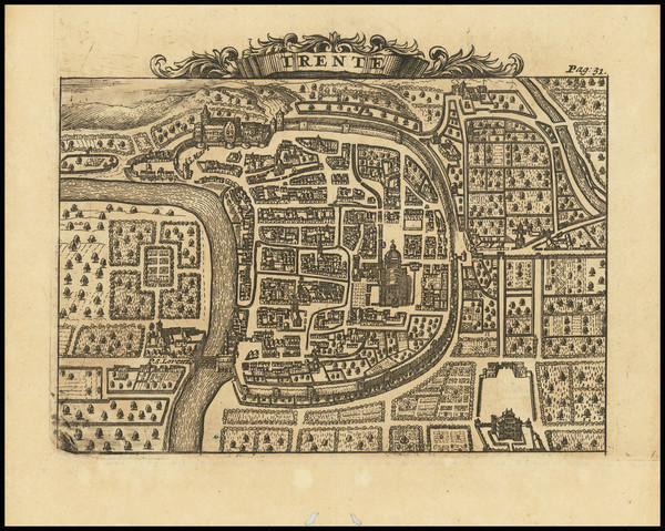 78-Northern Italy and Other Italian Cities Map By Alexandre de Rogissart