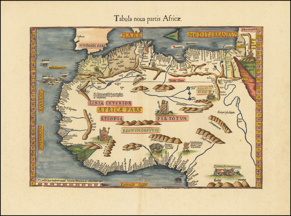 34-Africa, North Africa and West Africa Map By Lorenz Fries