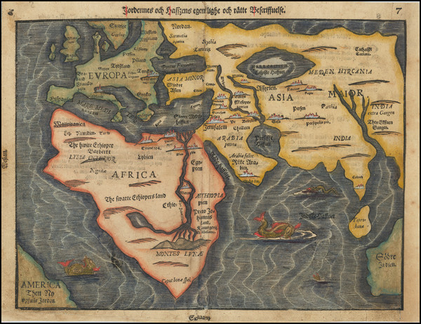 90-Eastern Hemisphere, Europe, Asia, Africa and Australia Map By Heinrich Bunting