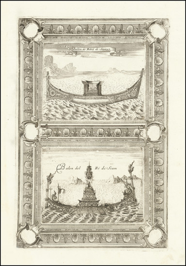 65-Curiosities Map By Vincenzo Maria Coronelli
