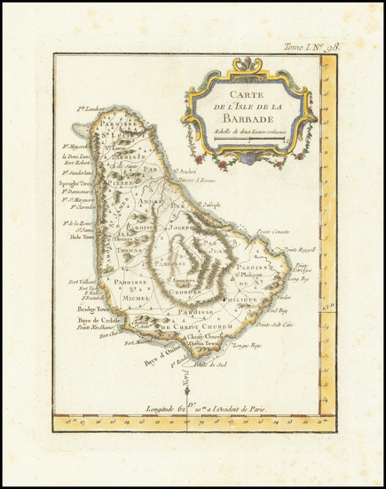 32-Other Islands Map By Jacques Nicolas Bellin
