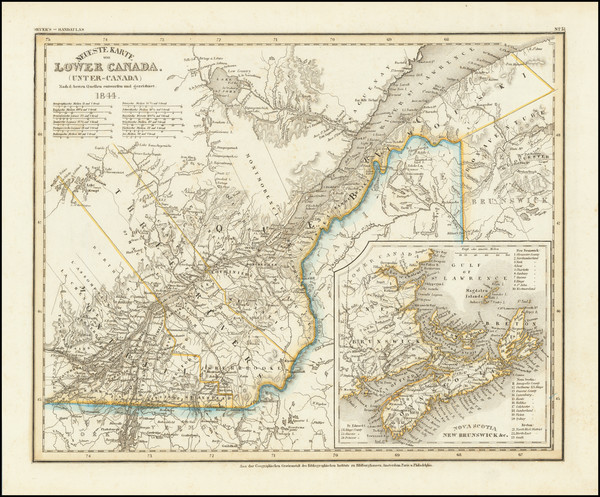 73-Eastern Canada Map By Joseph Meyer