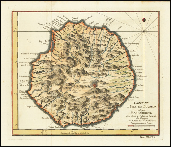 10-African Islands, including Madagascar Map By Jacques Nicolas Bellin